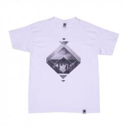 Men Unique Circle T-Shirt White